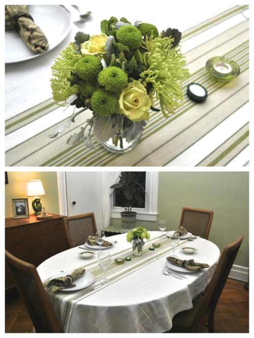 Urban Cholita: Green Table Setting