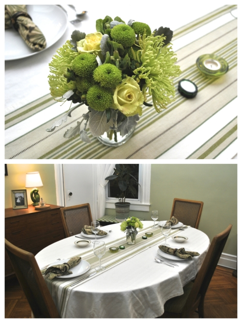 Urban Cholita: Green Table Setting