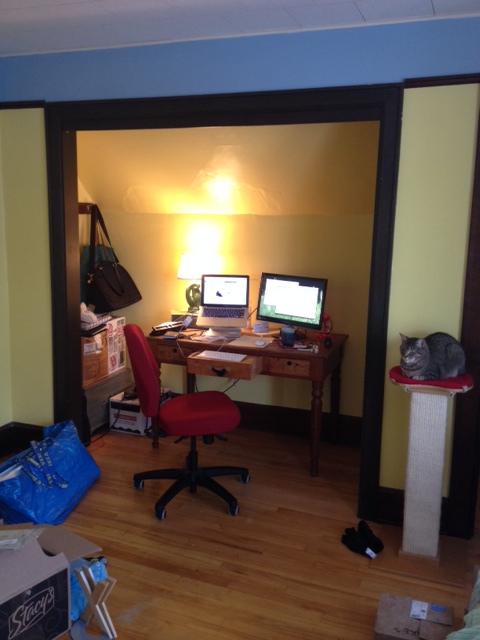 desk in nook